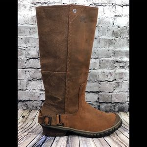SOREL quarry leather tall riding boots sz 6.5